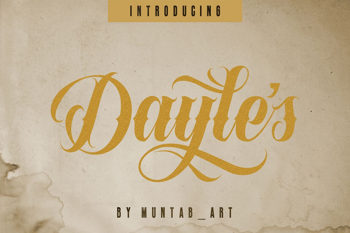 Dayles Script Fonts example image 1
