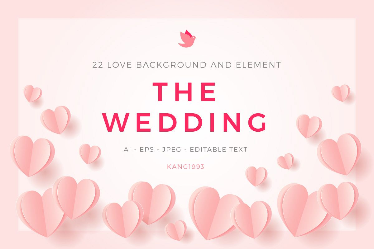 Love Wedding Background Template