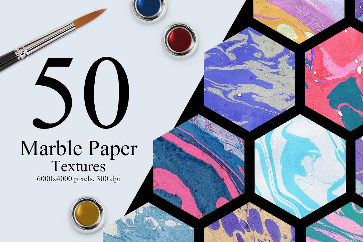 50 Marble Paper Textures example image 1