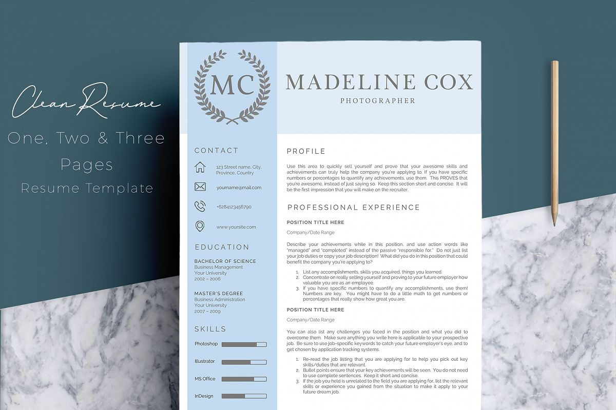 Resume Template Word 5 Pages example image 1