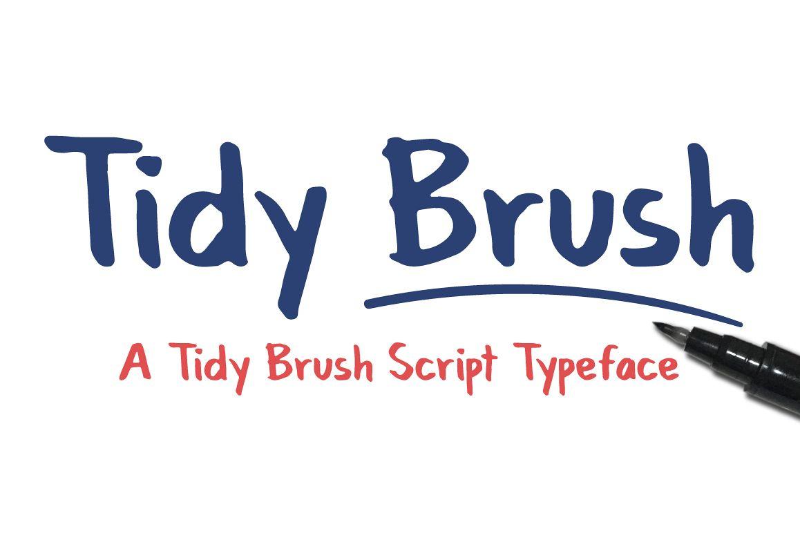 Tidy Brush Script Typeface example image 1