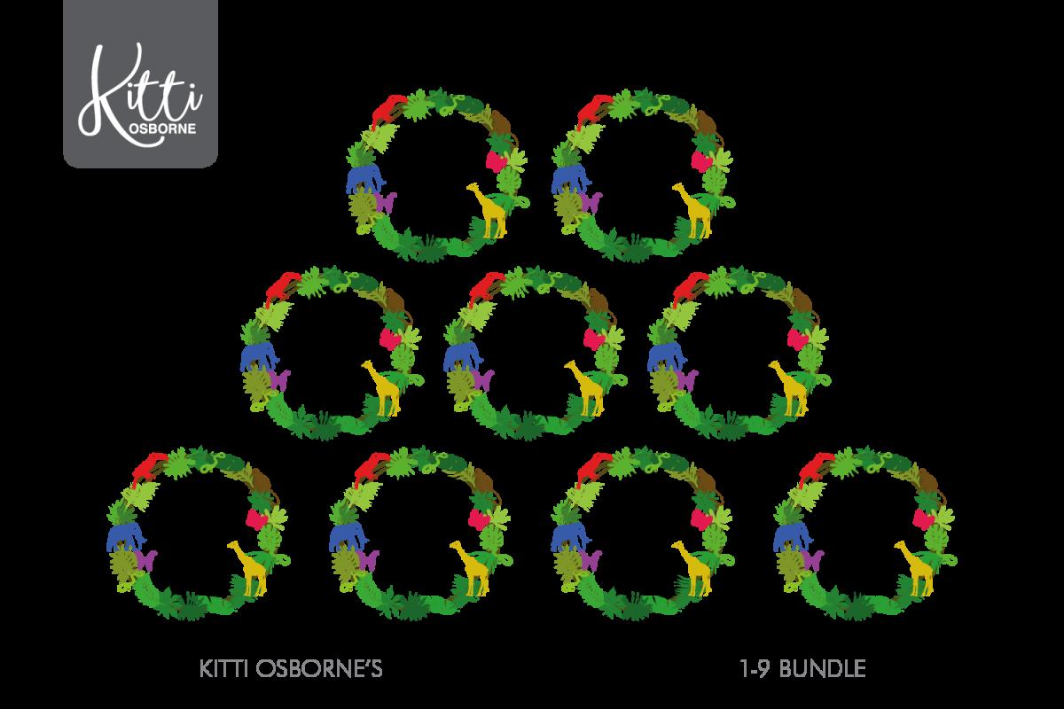 Animal Birthday Wreath 1-9 Bundle example image 1
