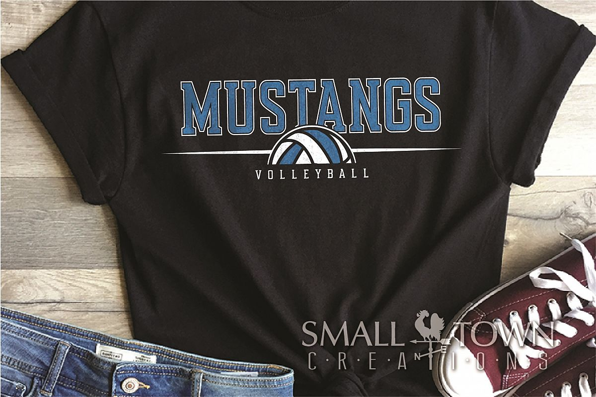 Mustang, Mustang Volleyball, Sport, PRINT, CUT & DESIGN example image 1