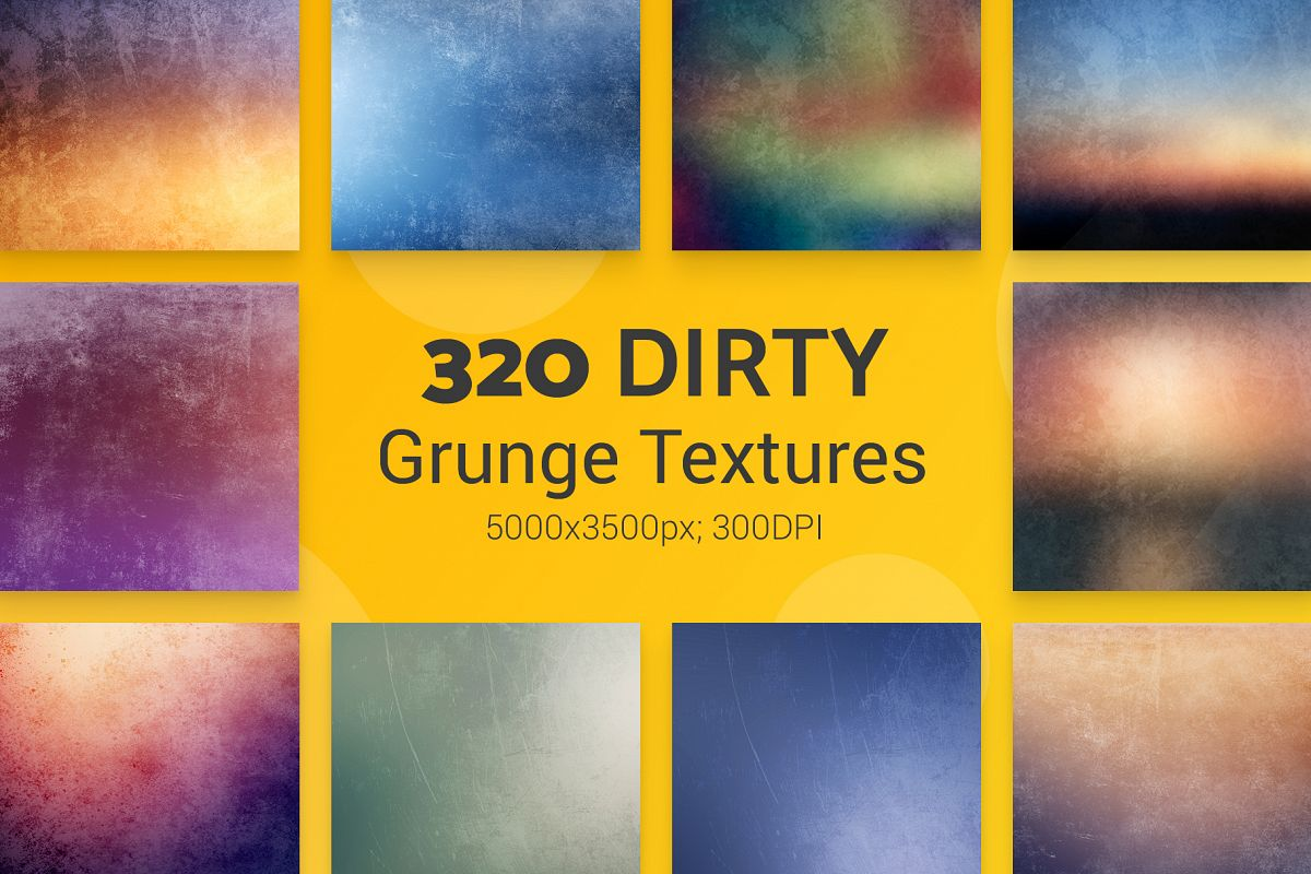 320 Dirty Grunge Textures example image 1