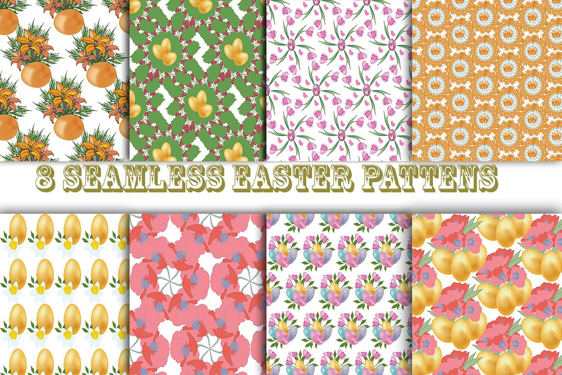 Easter pattern. Seamless pattern with Easter motifs. example image 1