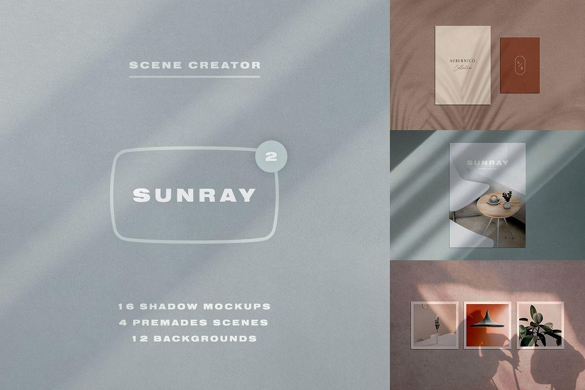 Sunray 2 - Stationery Shadow Mockups example image 1