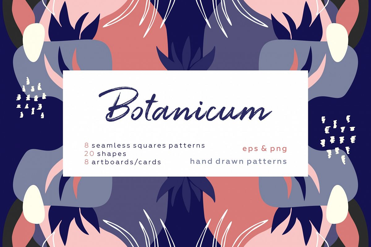 Botanicum. Modern and abstract pattern set. example image 1