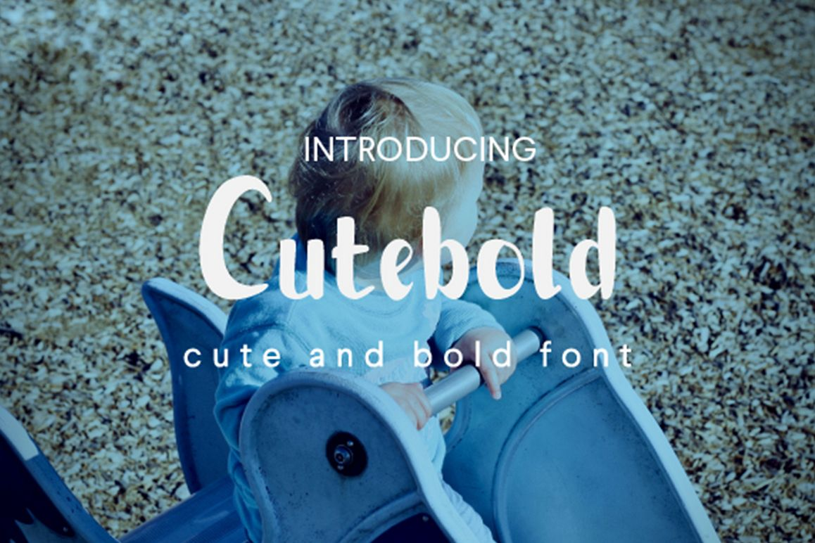 Cutebold - a display font example image 1