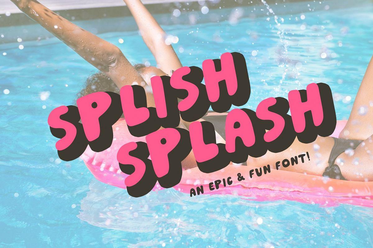 Splish Splash! | Playful Sans Serif Typeface example image 1