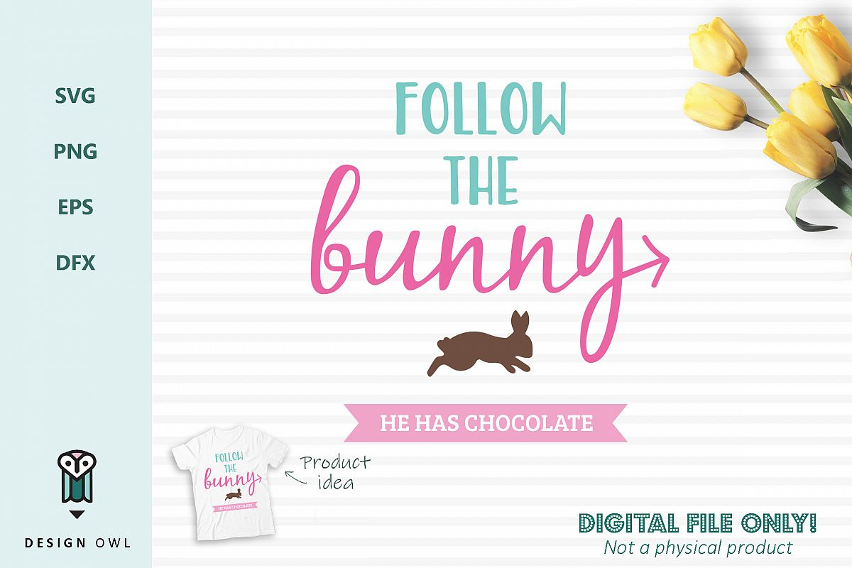 Follow the bunny - Easter SVG cut file example image 1