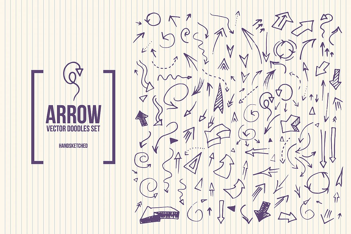 Doodle Arrows Vector Set example image 1