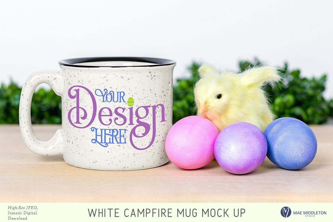 Campfire mug mock up for Easter example image 1