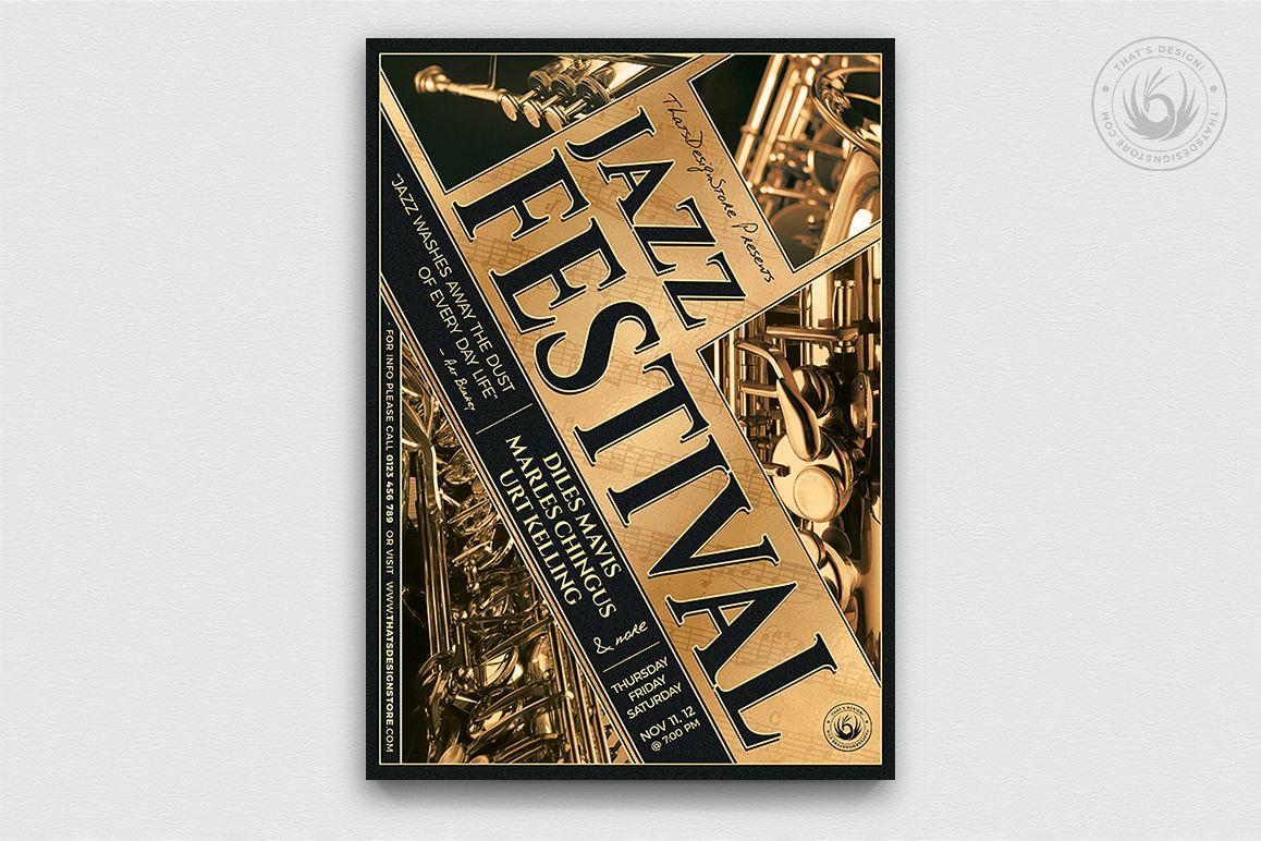 Jazz Festival Flyer Template V1 example image 1