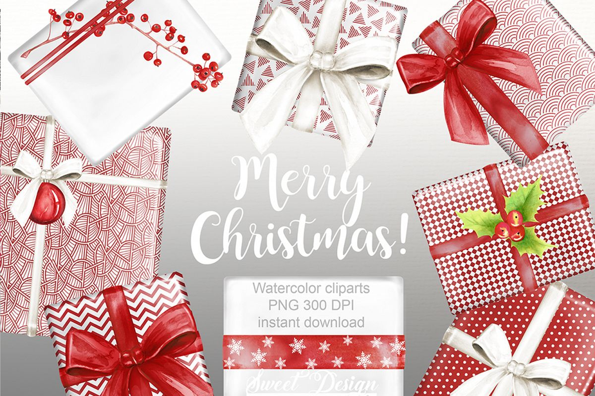 Christmas Gift Clipart.Christmas Gifts Clipart