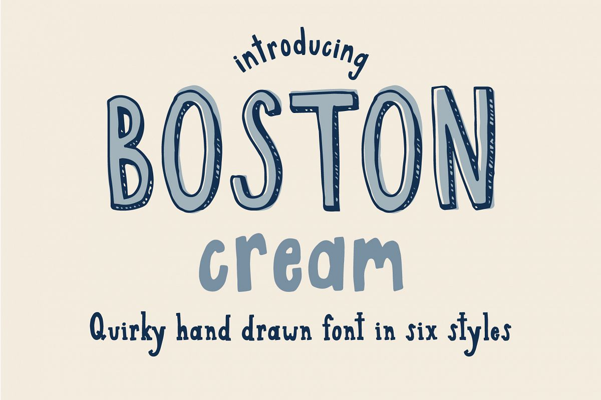 Boston Cream Font Family example image 1