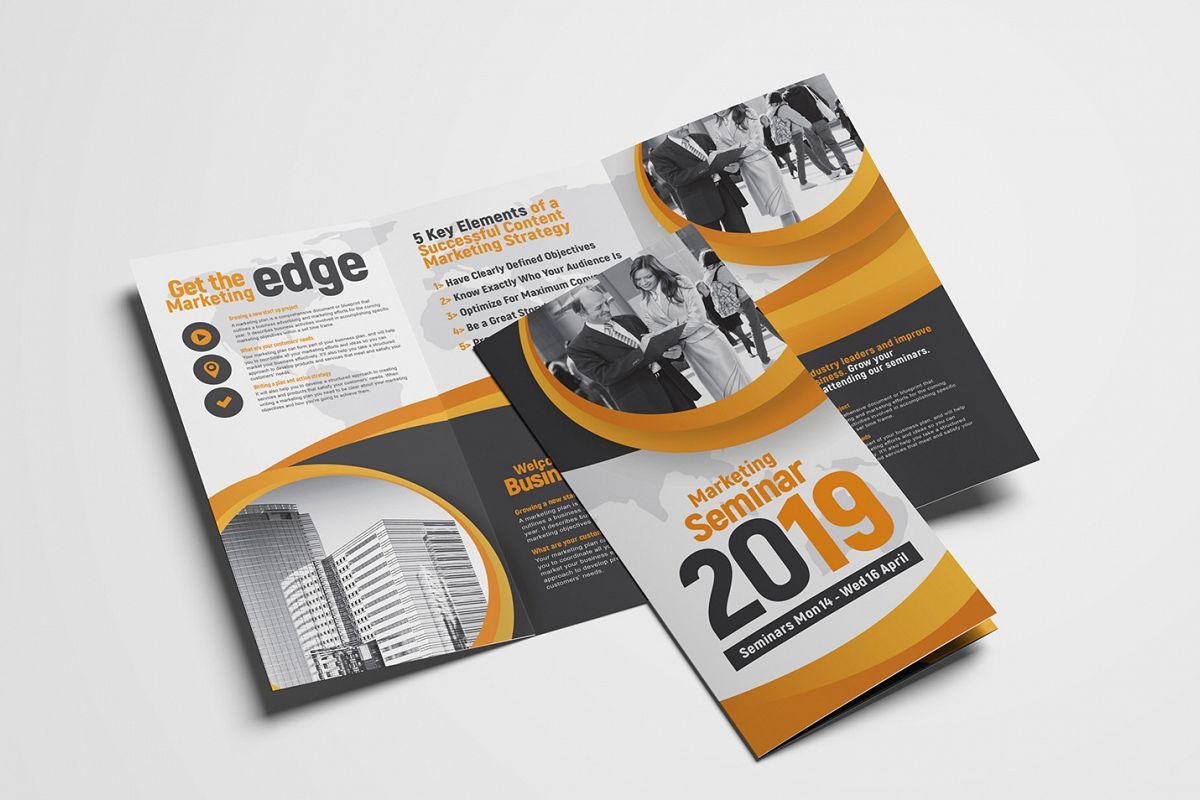 Marketing Seminar Tri-Fold Brochure Template example image 1