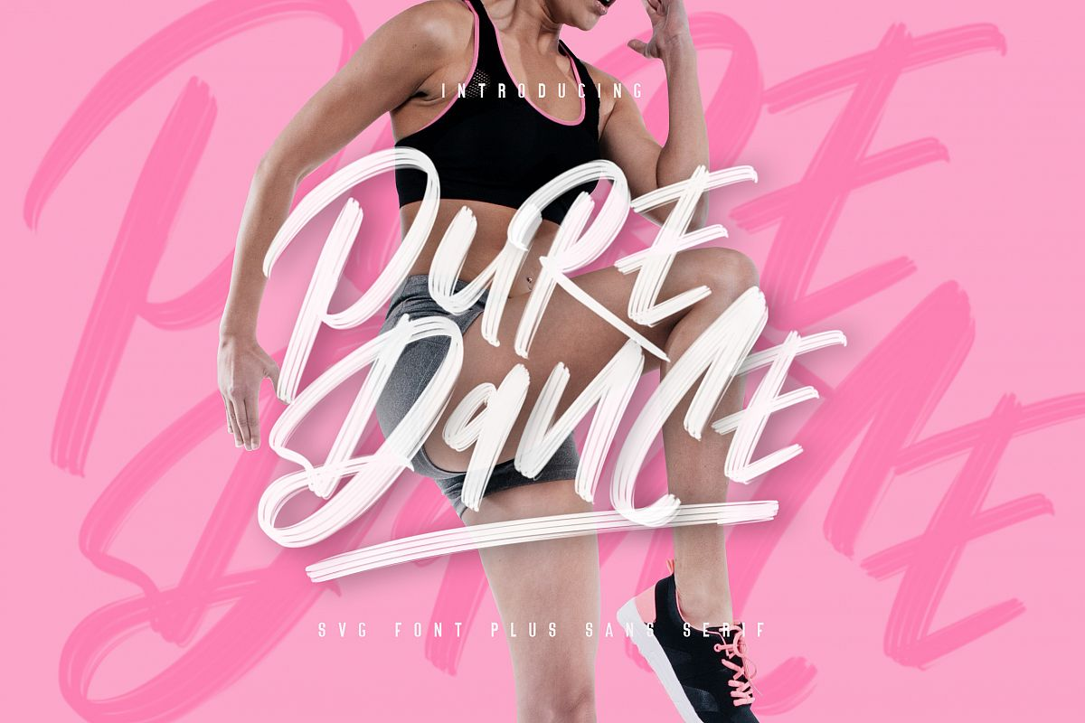 Pure Dance - SVG Font example image