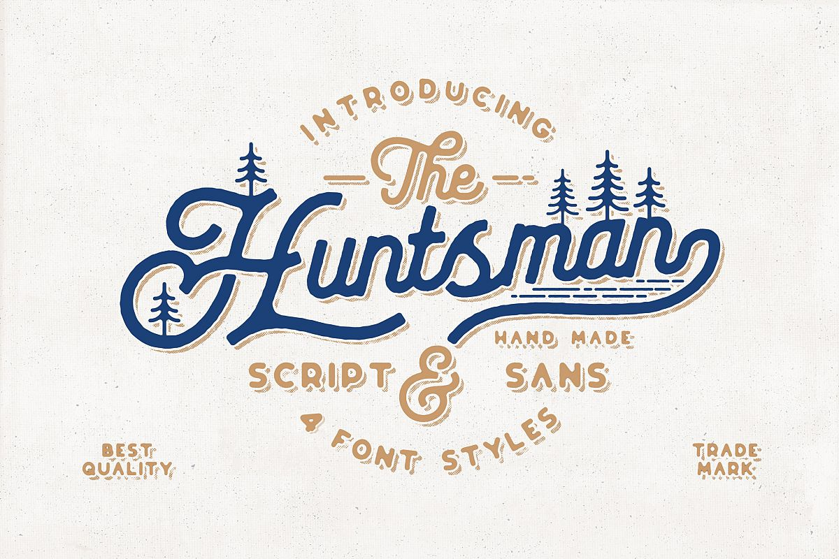The Huntsman Script and Sans Typeface example image 1