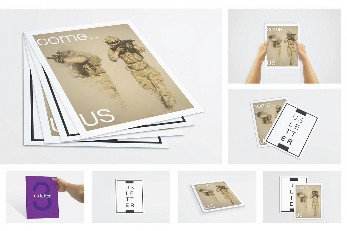 US Letter Flyer / Poster Mockups example image 1