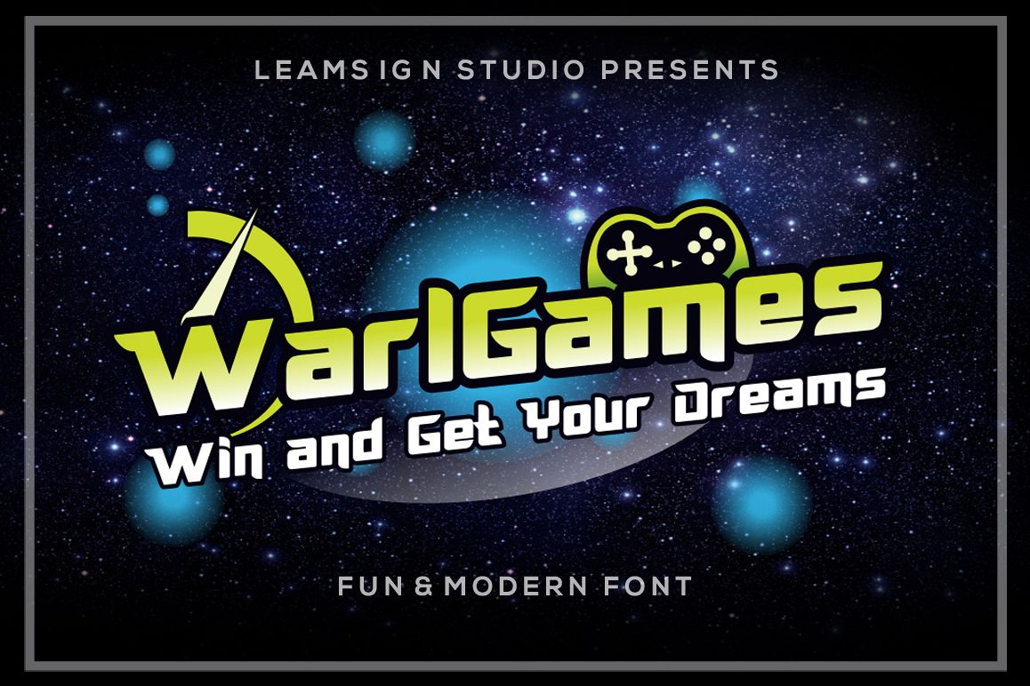 WarlGames Font example image 1