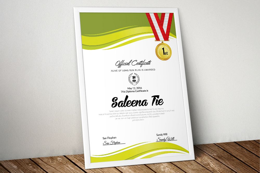 Clean Certificate Template example image 1