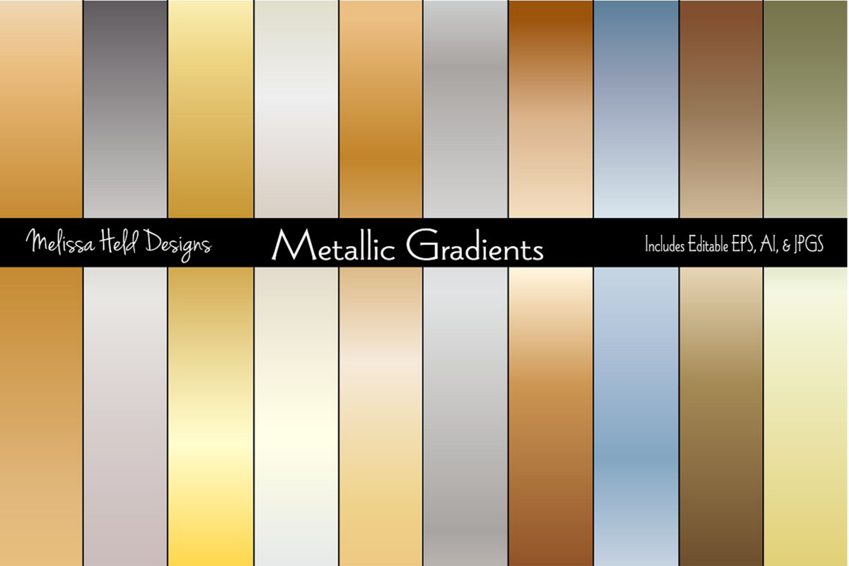 Gradient Metallic Backgrounds example image 1