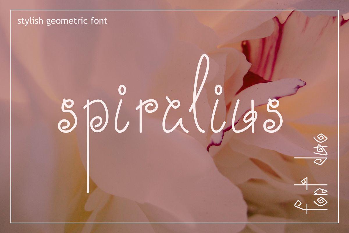 Spiralius Font Duo example image 1