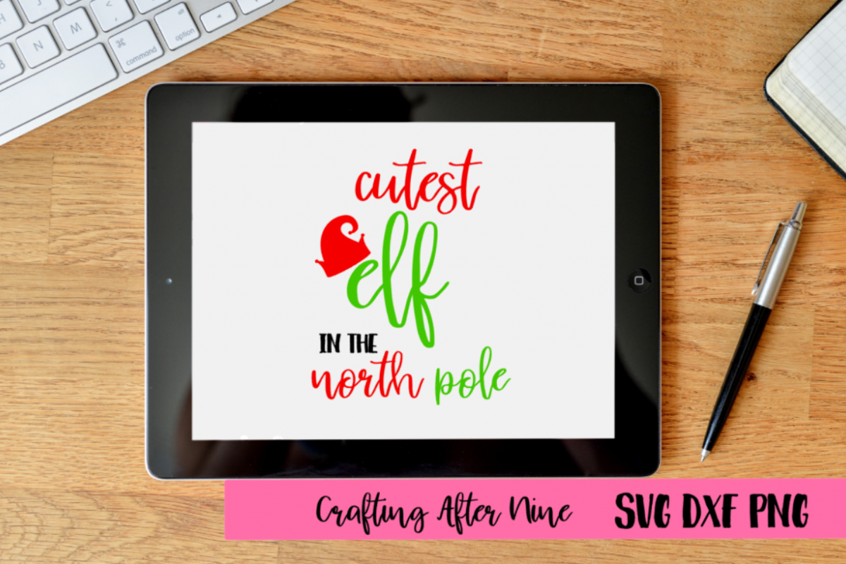 Cutest Elf in the North Pole Svg, Christmas Svg, Christmas example image 1