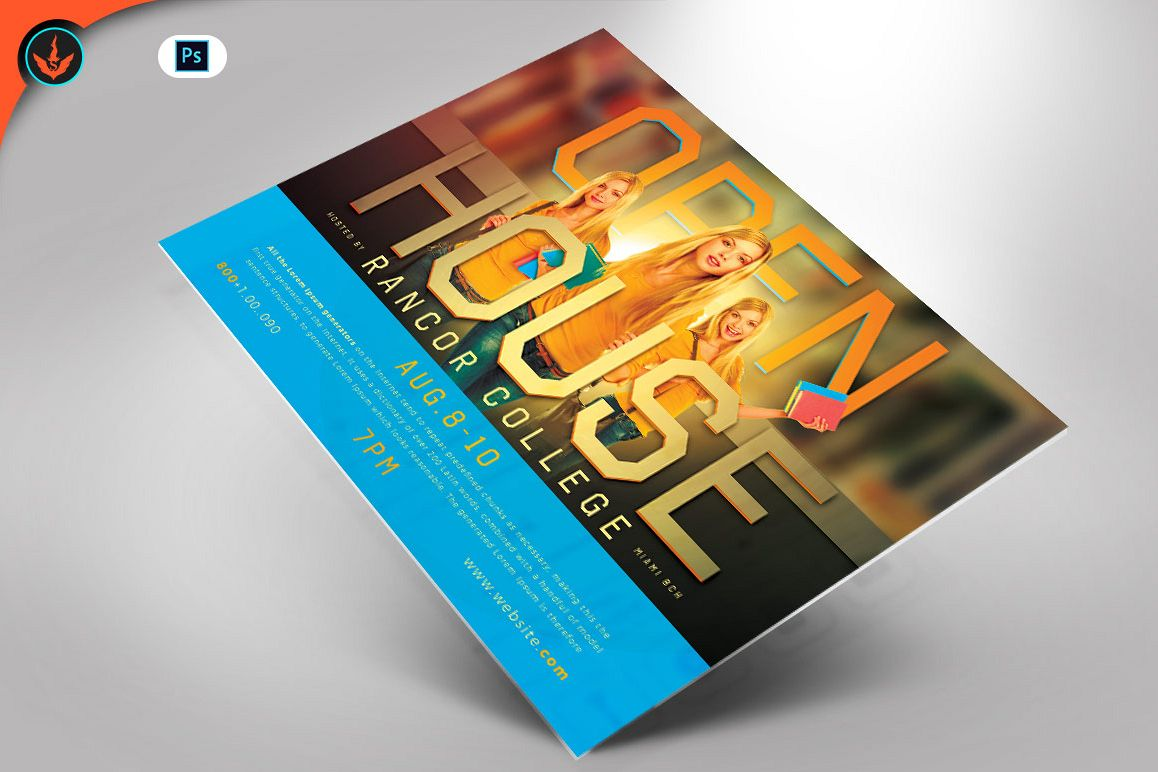 Open House Flyer Template example image 1