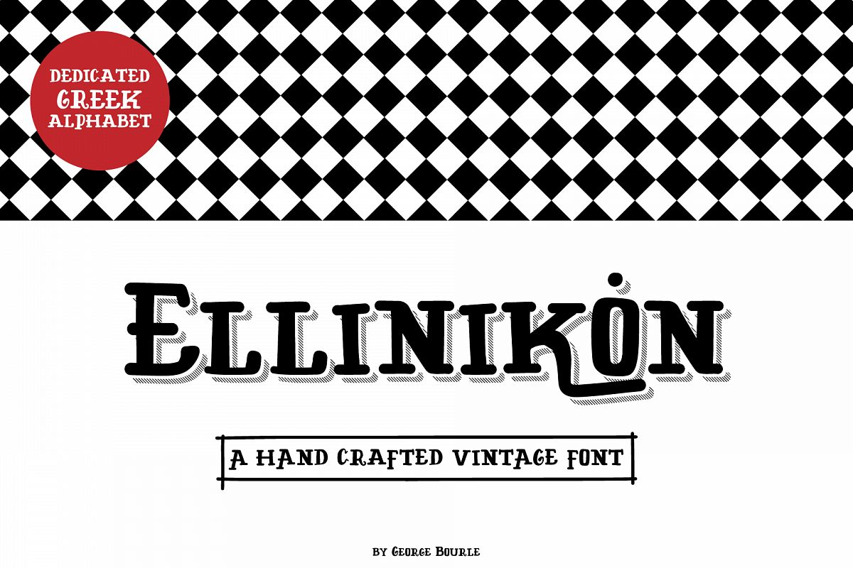 ELLINIKON HAND CRAFTED VINTAGE FONT example image 1
