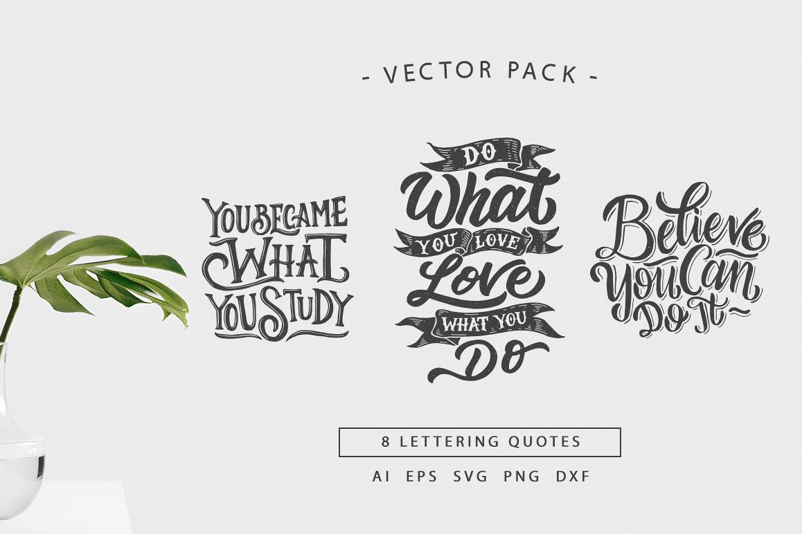 svg bundle hand lettering motivational quotes vol 2