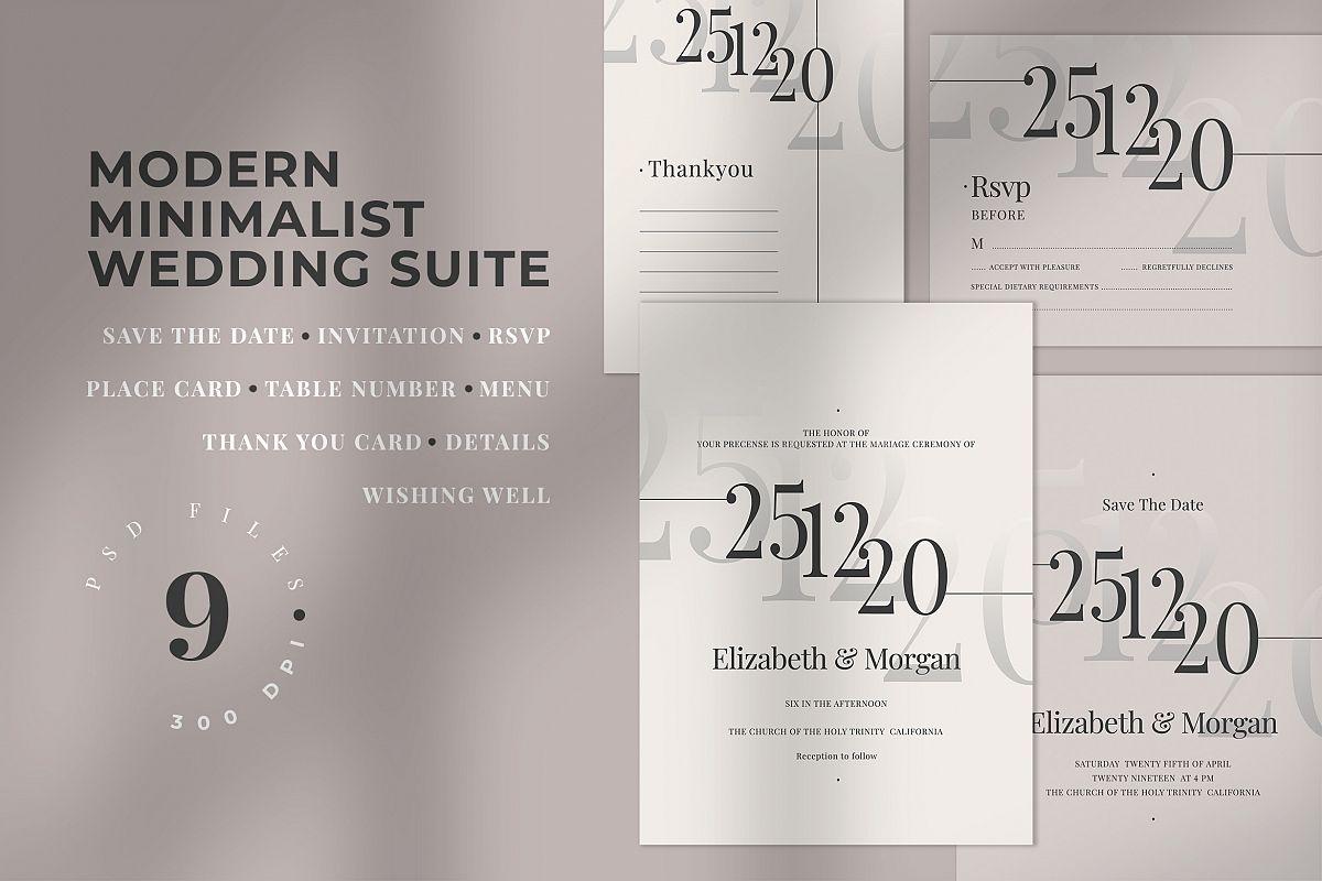 Modern Minimalist Wedding Suite example image 1