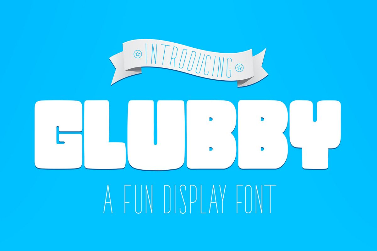 Glubby Font - Fun Display Font example image 1