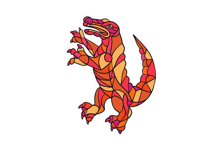 Crocodile Prancing Mosaic Color example image 1