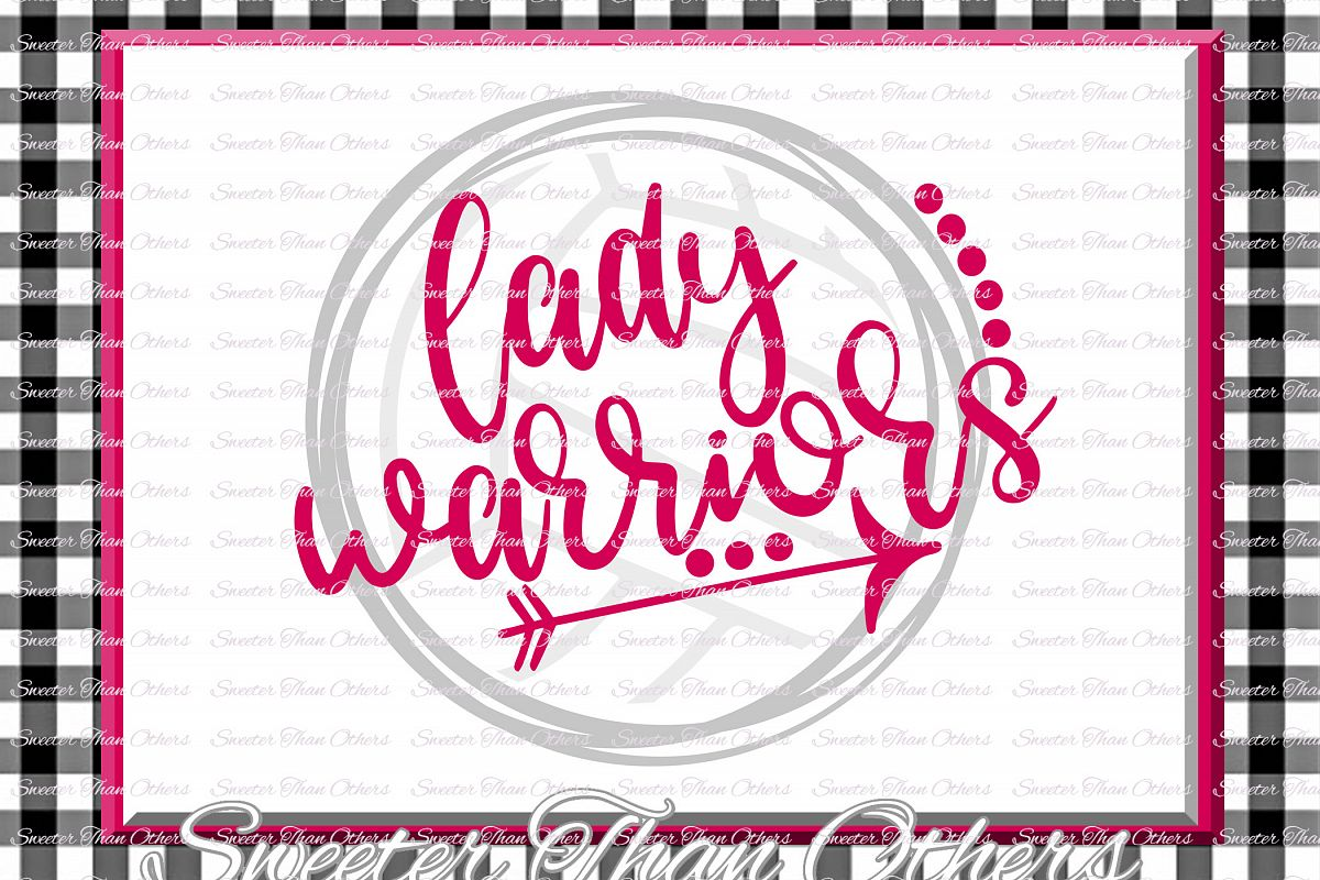 Volleyball svg, Lady Warriors svg, Warriors Volleyball svg example image 1