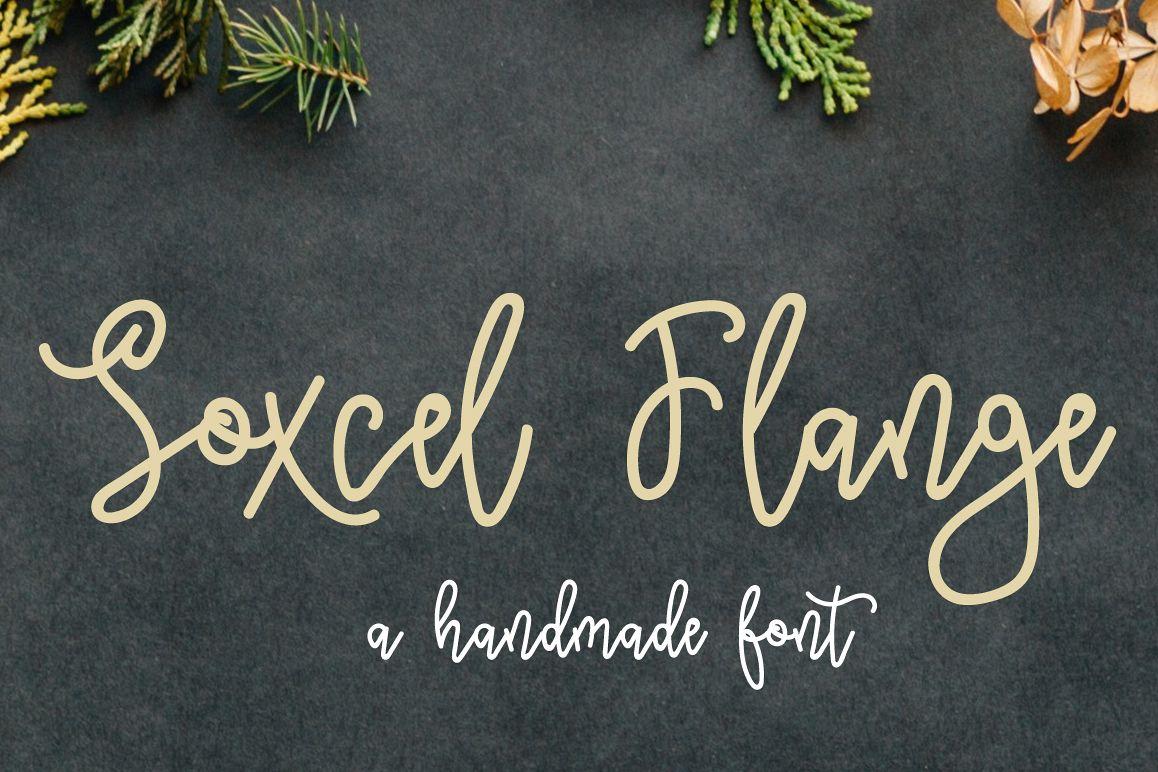 Soxcel Flange Script Font example image 1