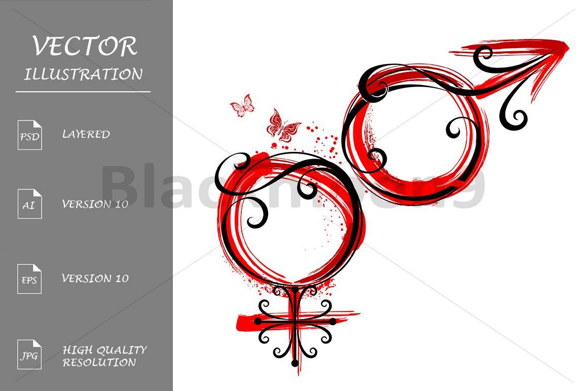 Male And Female Symbols Tattoo