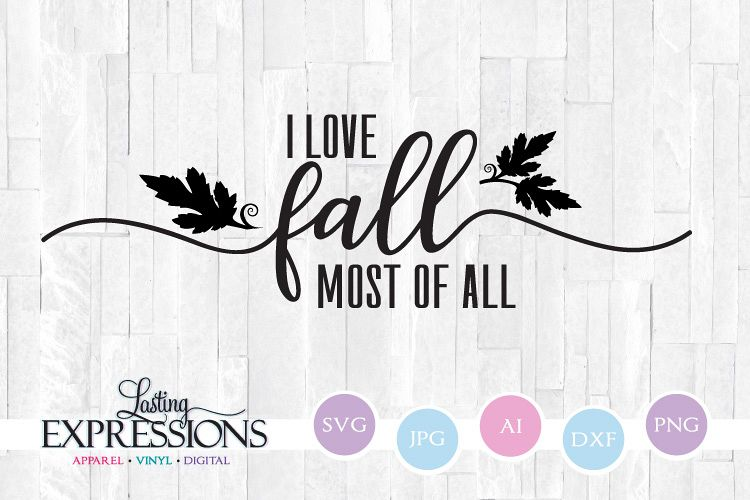 I love fall swash // Fall Craft Quote example image 1