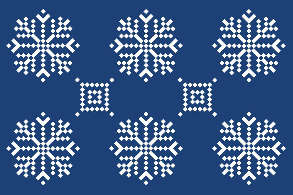 Christmas snowflake pattern example image 1