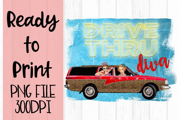 Drive Thru Diva Ready to Print example image 1