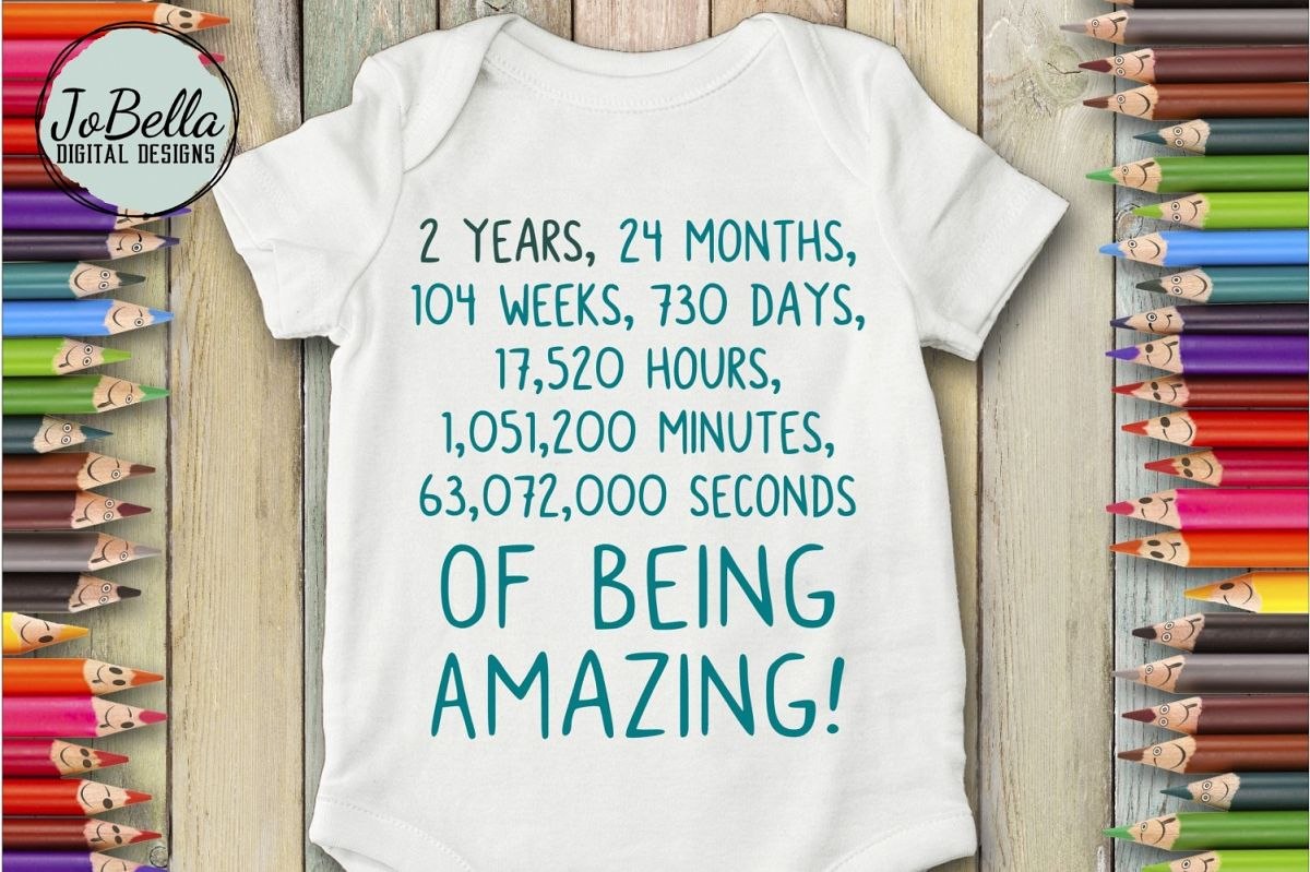 Second Birthday SVG - Toddler Shirt or Bodysuit Design example image 1