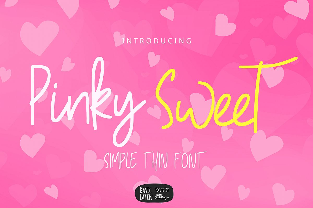 Pinky Sweet Cute Font example image 1