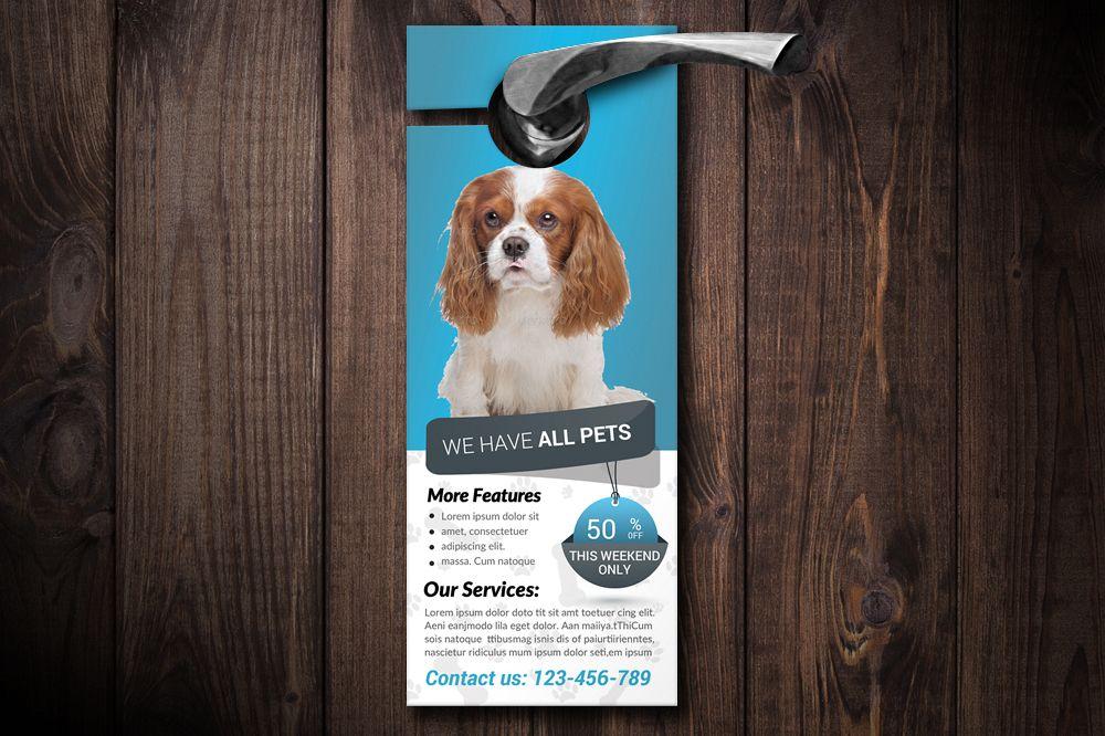 Pet Shop & Care Centre Door Hanger  example image 1