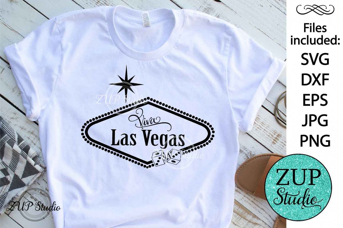 Las Vegas Sign SVG Design Cutting File 184 example image 1