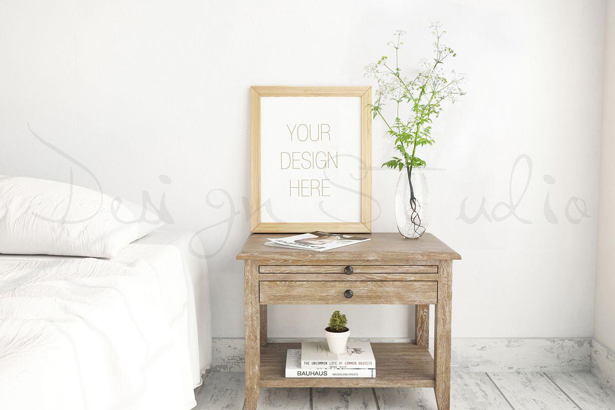 Styled Stock Photography, Frame Mockup, Bedroom interior photo , Styled Photography , stock photo , background image example image 1