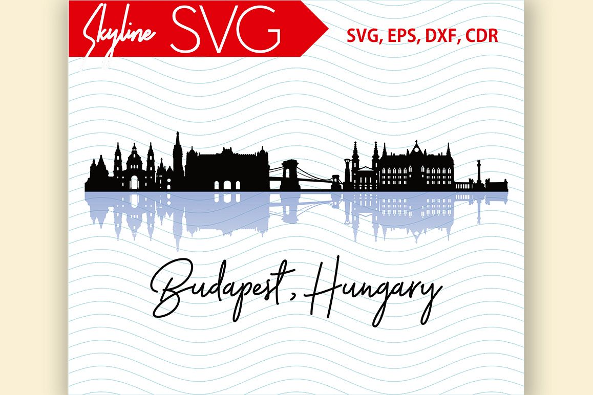 Budapest Skyline Hungary City Country in Europe Vector SVG example image 1