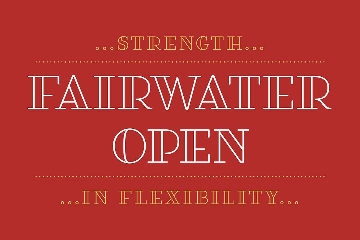Fairwater Open Serif example image 1