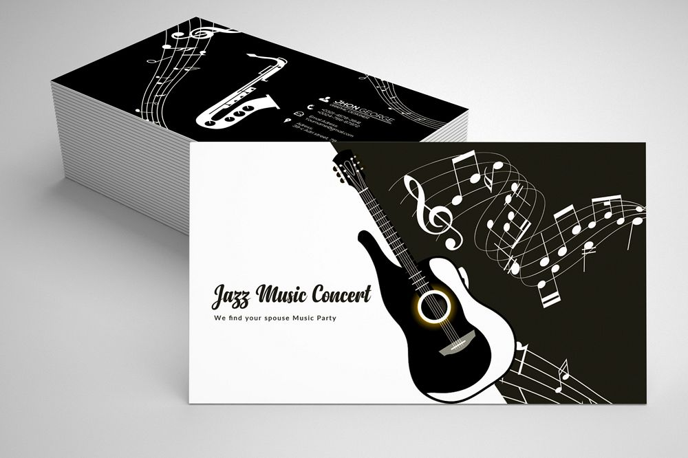 Jazz music business card template 07 by design bundles jazz music business card template 07 example image colourmoves