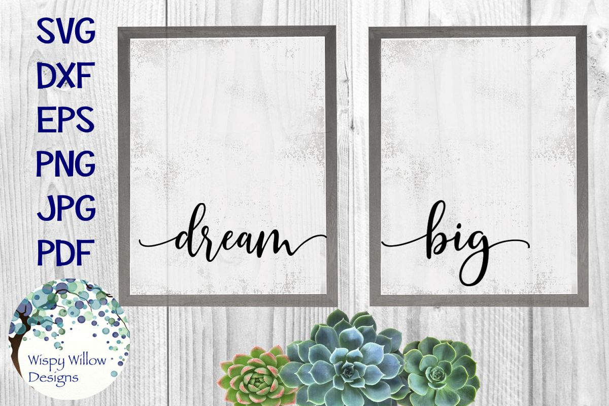 Dream Big | Baby Nursery Sign SVG Cut File example image 1