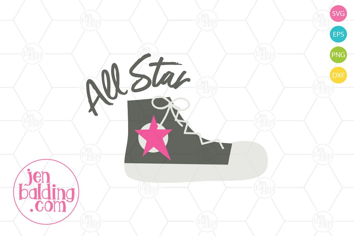 All Star Shoe SVG example image 1
